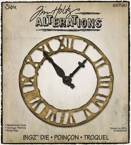Tim Holtz Sizzix Die WEATHERED CLOCK Bigz Alterations 657190 zoom image