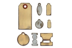 Tim Holtz Sizzix Die TINY TABS & TAGS Bigz Alterations 657188 zoom image