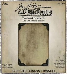 Tim Holtz Sizzix Die ATC & CORNERS Movers & Shapers Bigz Alterations 657184