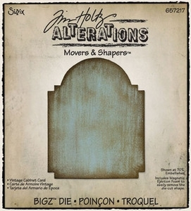 Tim Holtz Sizzix Die VINTAGE CABINET CARD Movers & Shapers Bigz Alterations 657217 zoom image