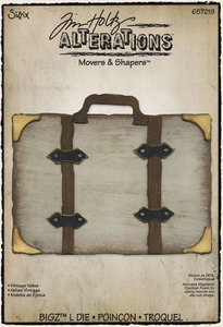 Tim Holtz Sizzix Die VINTAGE VALISE Trunk Movers & Shapers Bigz L Alterations 657219 zoom image