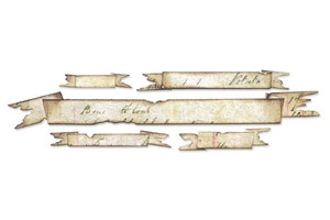 Tim Holtz Sizzix Die TATTERED BANNERS Sizzlits Alterations 657179