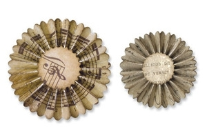Tim Holtz Sizzix Die MINI PAPER ROSETTES Sizzlits Alterations 657177 Preview Image