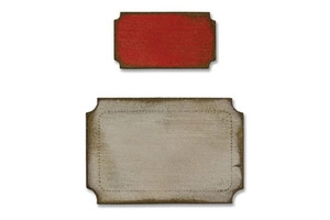 Tim Holtz Sizzix Die MINI TICKETS Movers and Shapers Alterations 657216*