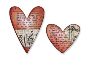 Tim Holtz Sizzix Die MINI HEARTS SET Movers & Shapers Alterations 657212 Preview Image