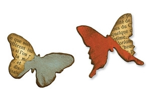 Tim Holtz Sizzix Die MINI BUTTERFLIES Movers & Shapers Alterations 657209 zoom image