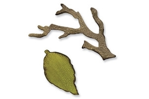Tim Holtz Sizzix Die MINI BRANCH & LEAF Movers & Shapers Alterations 657208