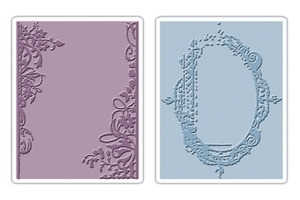 Tim Holtz Sizzix FANCY & FLORAL FRAMES Texture Fades Embossing Folders 657197