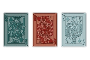 Tim Holtz Sizzix POKER FACE Texture Trades Embossing Folders 657194
