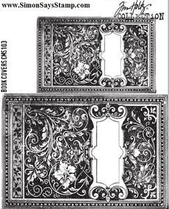 Tim Holtz Cling Rubber Stamps BOOK COVERS CMS103 zoom image