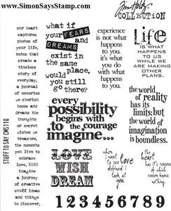 Tim Holtz Cling Rubber Stamps STUFF TO SAY CMS110 zoom image