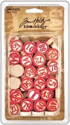 Tim Holtz Idea-ology 90 GAME PIECES Bingo TH92915