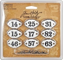 Tim Holtz Idea-ology 9 PLAQUETTES Metal TH92921