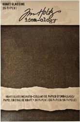 Tim Holtz Idea-ology KRAFT GLASSINE PAPER STASH PAD 5 x 8 TH92916