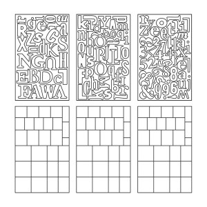 Tim Holtz Idea-ology GRUNGE BLOCKS TH92925* Preview Image