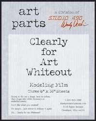 Wendy Vecchi Modeling Film WHITEOUT CLEARLY FOR ART White Out Parts Studio 490 WVWHTOUT