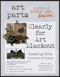 Wendy Vecchi Modeling Film BLACKOUT CLEARLY FOR ART Black Out Parts Studio 490 WVBLKOUT*