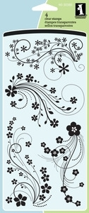 Inkadinkado Clear Stamps MODERN FLOWER FLOURISH 60-30380