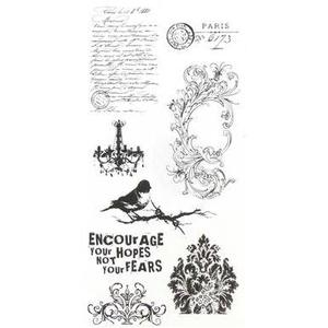 Tim Holtz Visual Artistry FRENCH CONNECTION Clear Stamps Set  css27850