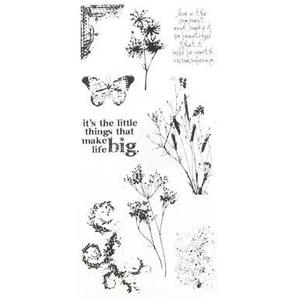 Tim Holtz Visual Artistry NATURE'S ELEMENTS Clear Stamps Set  css27836