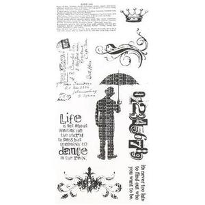 Tim Holtz Visual Artistry PURELY RANDOM Clear Stamps Set  css27843 zoom image