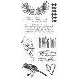 Tim Holtz Visual Artistry ARTFUL THINGS Clear Stamps Set 2011 css27829