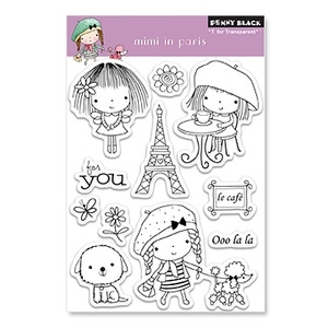 Penny Black Clear Stamps MIMI IN PARIS 30-071 zoom image
