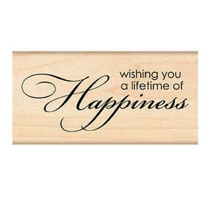Penny Black Rubber Stamp HAPPINESS 4185F