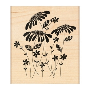 Penny Black Rubber Stamp FLOWER AMONGST FLOWERS 4155L