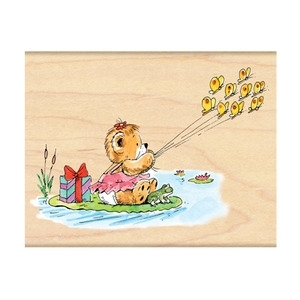 Penny Black Rubber Stamp SAILING WITH BUTTERFLIES 4136K