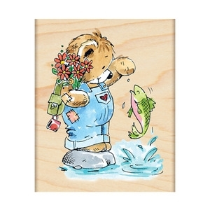 Penny Black Rubber Stamp FISHING FRIENDS 4140K