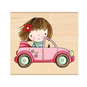 Penny Black Rubber Stamp ABOUT TOWN Mimi 4145K