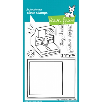 Lawn Fawn SAY CHEESE Clear Stamps
