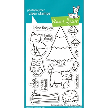 Lawn Fawn CRITTERS IN THE FOREST Clear Stamps