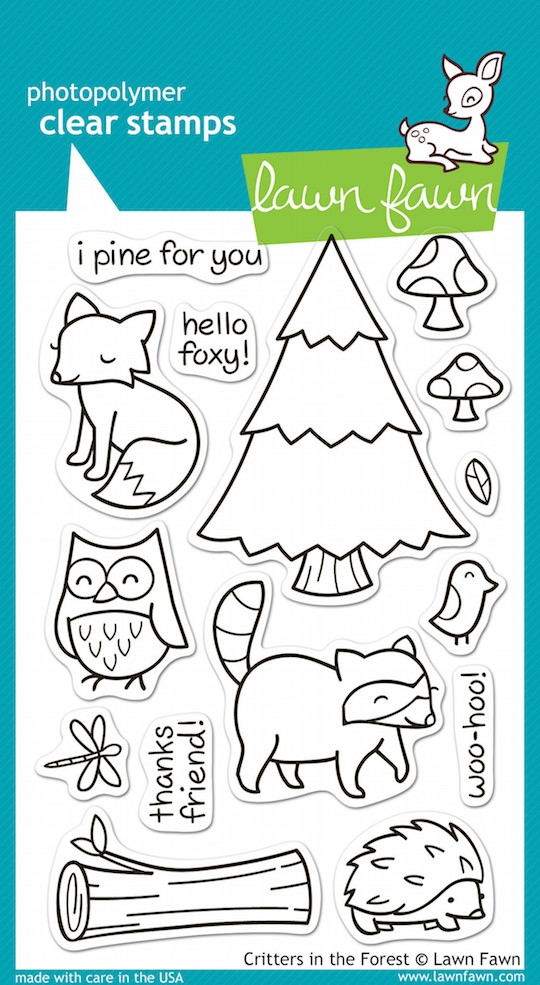 Lawn Fawn CRITTERS IN THE FOREST Clear Stamps zoom image