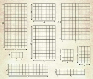 Tim Holtz 9 GRID ACRYLIC BLOCKS Set to Cling Stamps 521736