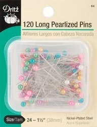 Dritz 120 LONG PEARLIZED PINS 103342* zoom image