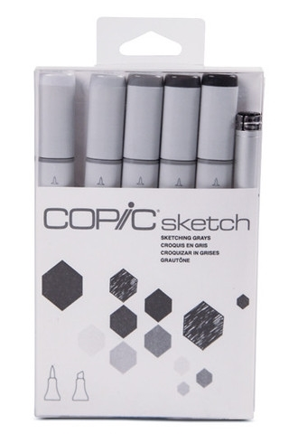 Copic Sketch SKETCHING GRAYS Markers Kit Preview Image