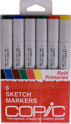 Copic Sketch BOLD PRIMARIES Markers Kit zoom image