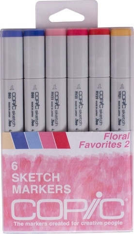 Copic Sketch FLORAL FAVORITES 2 Markers Kit Preview Image