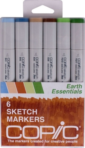 Copic Sketch EARTH ESSENTIALS Markers Kit zoom image