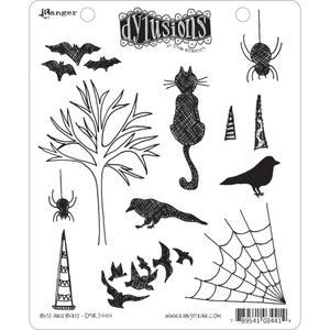 Dyan Reaveley BITS AND BATS Stamp Set Dylusions Cling Unmounted Rubber DYR34414 zoom image