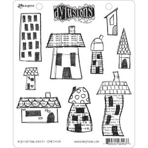 Dyan Reaveley RIGHT UP YOUR STREET Stamp Set Dylusions Cling Unmounted Rubber DYR34438 zoom image