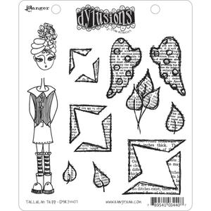 Dyan Reaveley TALLULAH TRIPP Stamp Set Dylusions Cling Unmounted Rubber