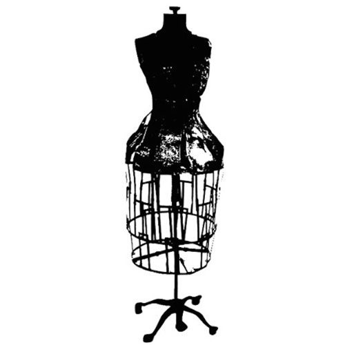 Tim Holtz Rubber Stamp DRESS FORM Stampers Anonymous p3-1670 Preview Image
