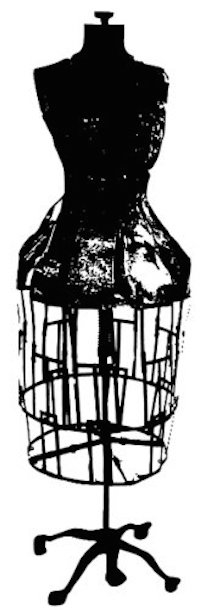 Tim Holtz Rubber Stamp DRESS FORM Stampers Anonymous p3-1670 zoom image