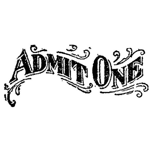 Tim Holtz Rubber Stamp ADMIT d4-1675 Stampers Anonymous Preview Image