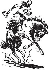 Tim Holtz Rubber Stamp COWBOY Stampers Anonymous p4-1693