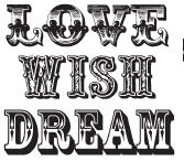 Tim Holtz Rubber Stamp LOVE WISH DREAM Stampers Anonymous h1-1697 Preview Image