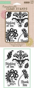 Hero Arts Clear Stamps SWEET THREADS THANK YOU BasicGrey CL511 Preview Image
